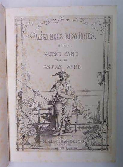 George SAND. Légendes rustiques. Dessins...
