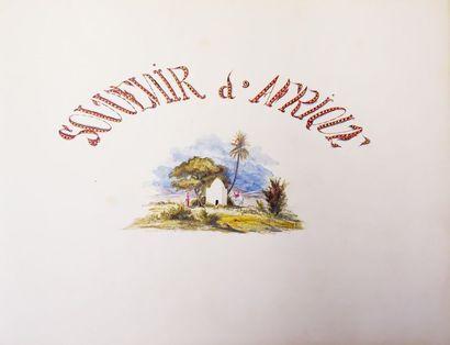 ALBUM DE DESSINS. S.l. (Afrique, France,...