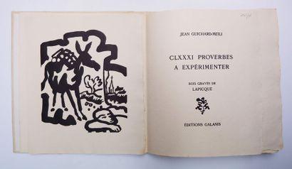 René CHAR. Le Monde de l'art n'est pas le monde du pardon. Paris, Maeght, 1974....