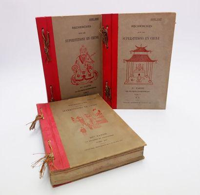 Henri DORÉ. Recherches sur les superstitions en Chine. Chang-Hai, T'ou-sè-wè, 1911-1919....