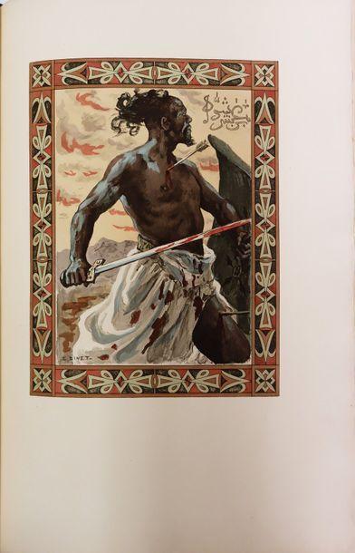 ANTAR. Poème héroïque arabe… Paris, Piazza, 1898. In-4, maroquin tête-de-nègre,...
