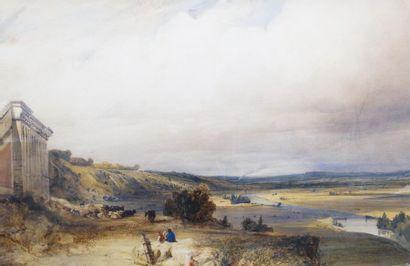 Sigismond HIMELY (1801-1872) Vue sur la Seine...