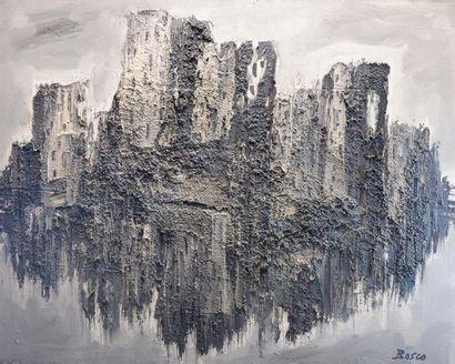 Pierre BOSCO (1909-1993) Composition grise....
