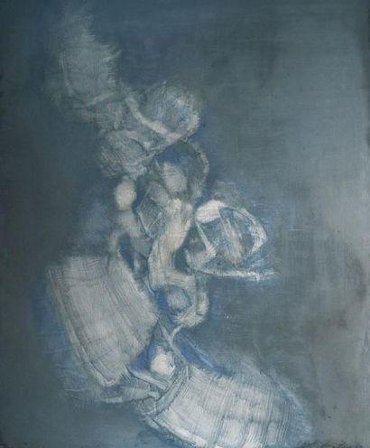Léon ZACK (1892-1980) Composition en bleu,...