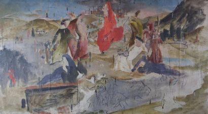 Roger CHASTEL (1897-1981) Composition. Huile...