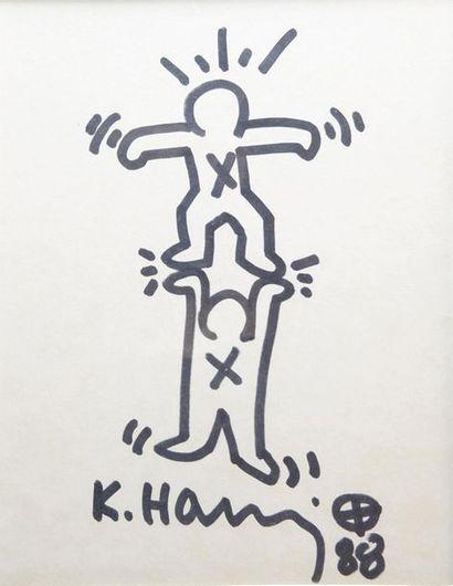 Keith HARING (1958-1990) Acrobaties, 1988....