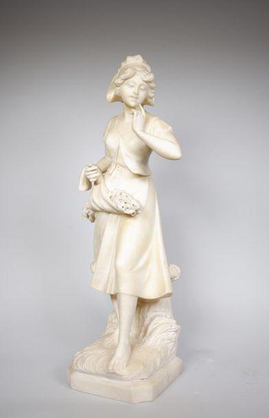 T. CIPRIANI (XXe siècle) La glaneuse. Sculpture...