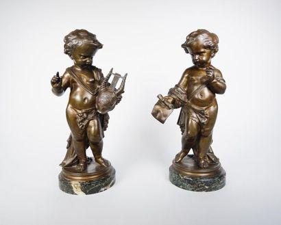 D'après CLODION (1738-1814) Amours poète...