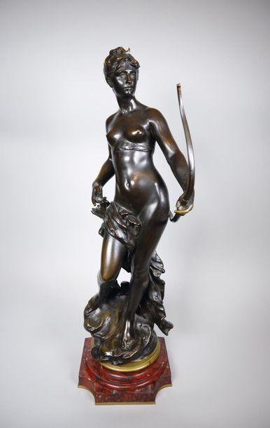 Mathurin MOREAU (1822-1912) Diane chasseresse....