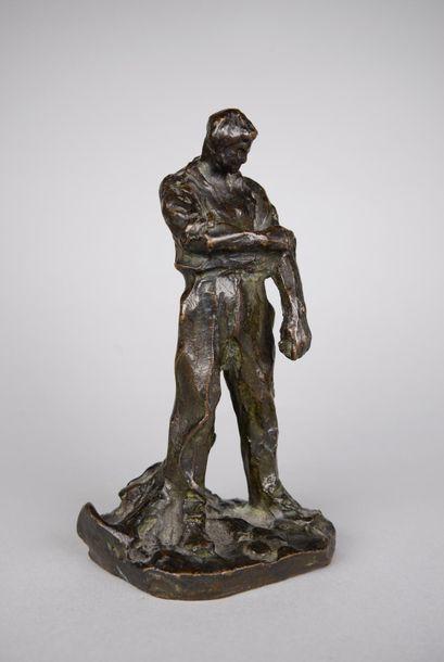 Aimé-Jules DALOU (1838-1902) Le paysan. Epreuve...