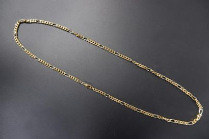 Chaine à maille figaro en or jaune 18K (750°/°°)....