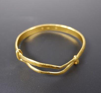 Bracelet en or jaune 24K (958°/°°) légèrement...