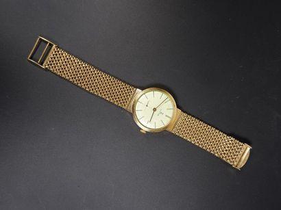 SIGMA Montre bracelet d'homme en or jaune...
