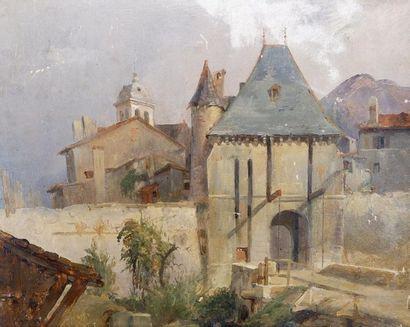 Barthélemy MENN (1815-1893) Vue d'une entrée...