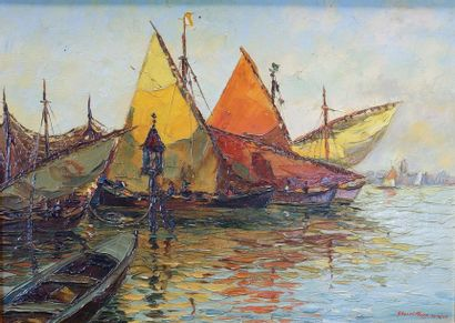 Bruno GHERRI MORRO (1899-1967) Voiliers au...