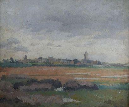 Attribué à André MARE (1885-1932) Vue de...