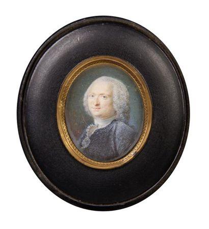 Ecole du XVIIIe siècle Portrait d'homme au...