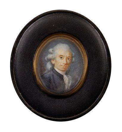 Ecole du XVIIIe siècle Portrait d'homme....