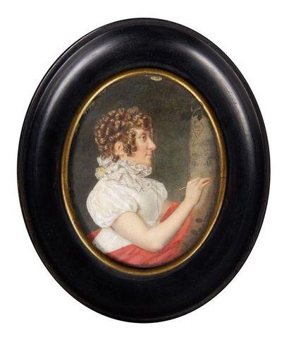 Ecole du début du XIXe siècle Portrait de...