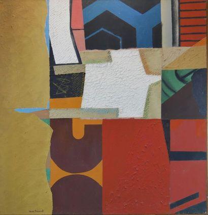 """Max PAPART (1911-1994) """"Long Island"""", 1973. Technique mixte sur toile signée en..."""