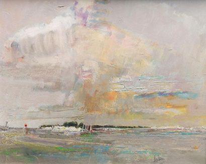 Louis FABIEN (XXe siècle) Eclaircie, 1963....