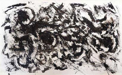Jean VILLERI (1896-1982) Sans titre, 1963. Encre sur papier fort signé et daté en...