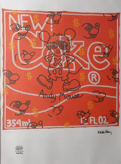Keith HARRING (1958-1990) Andy MOUSE. Monographie...