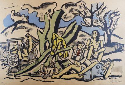 Fernand LEGER (1881-1955) La partie de campagne....