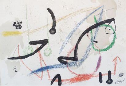 Joan MIRO (1893-1983) Composition abstraite....