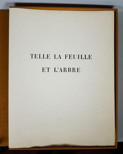 Andrée Caraire, Telle la feuille et l'arbre, Editions GOUTAL-DARLY, Paris, 1971....