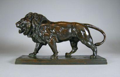 Antoine Louis BARYE (1796-1875) Le lion marchant....