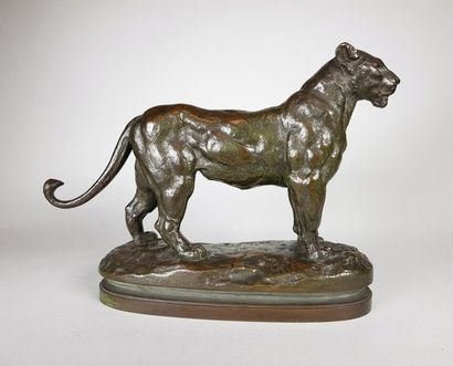 Antoine-Louis BARYE (1795-1875) Lionne du...