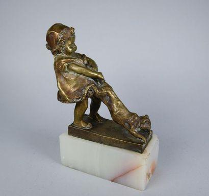 Juan CLARA AYATS (1875-1958) Fillette au...