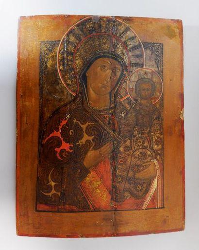 Icône de la Vierge de Smolensk Technique...