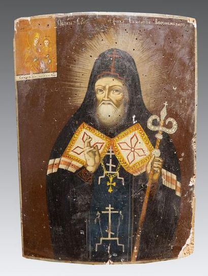 Icône de Saint Mitrophane de Voronèje Une...