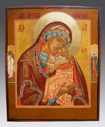 Icône de la Vierge de Iaroslav Sur la bordure...