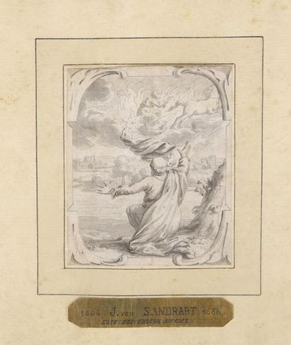 Attribué à Johann Jakob SANDRART (1655–1698) Trois scènes de l'Ancien Testament...