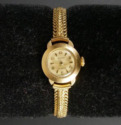 KODY Montre bracelet de dame en or jaune...