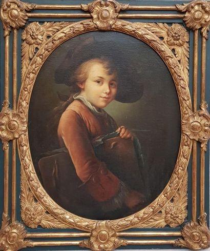 Ecole du XIXe siècle, d'après François Hubert DROUAIS (1727-1775) Le jeune élève....