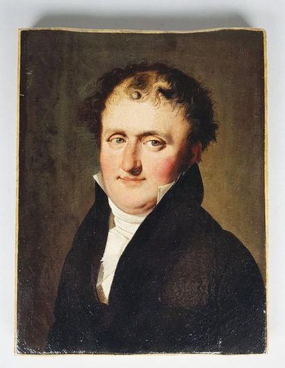 Entourage de Louis Léopold BOILLY (1761-1845) Portrait d'homme et de femme. Deux...