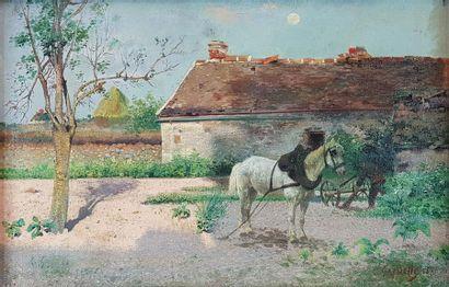 L. GARDETTE (XIXe-XXe siècles) Cheval de...