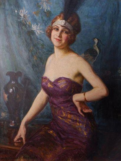 Henri VINCENT-ANGLADE (1876-1956) La femme...