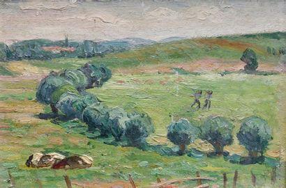 Paul Émile COLIN (1867-1949) Les saules....