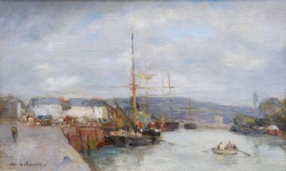 Albert Marie LEBOURG (1849-1928) Sur la seine....