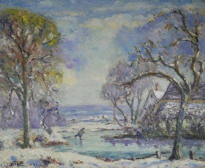 Emmanuel de la VILLEON (1910-1969) Paysage...