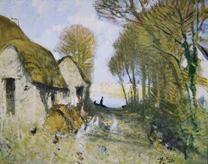 Pierre Eugène MONTEZIN (1874-1946) La Ferme...