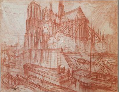André MAIRE (1898-1984) Notre-Dame de Paris,...