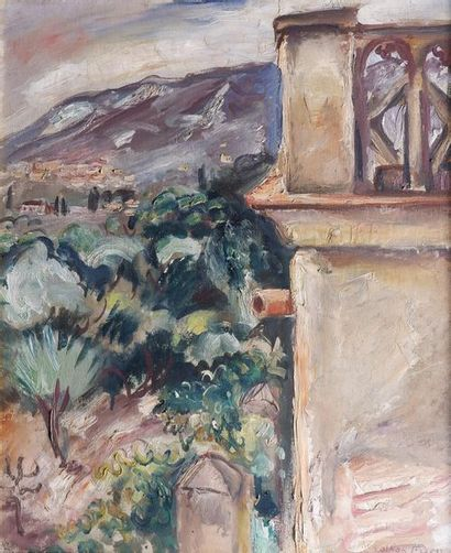 Emile Othon FRIESZ (1879-1949) Vue provençale,...