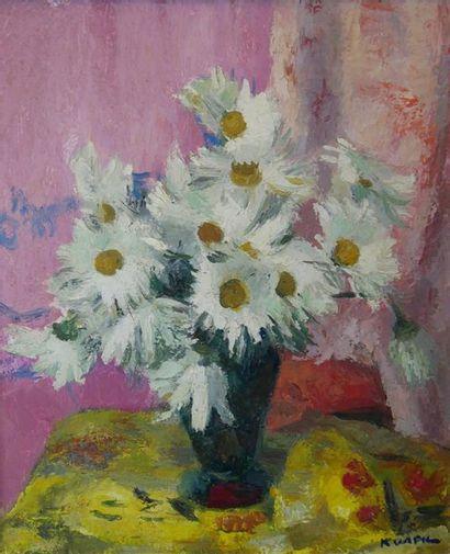 Charles KVAPIL (1884-1957) Bouquet de fleurs....