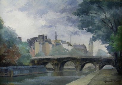 Gerard MONO (XXe siècle) Les quais de Seine....